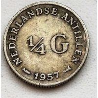 Нидерландские Антильские острова 1/4 гульдена, 1957 1-1-5