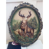 Гипсовая картина олень с 7 руб
