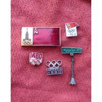 Значки Олимпиада-80