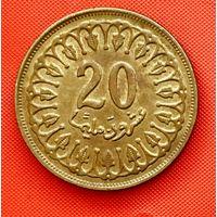 14-12 Тунис, 20 миллимов 1983 г.
