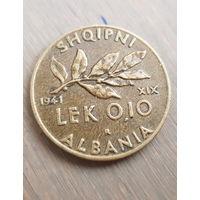 Албания 0.10 Лек 1941 г., вес 4.67 гр.
