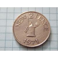 Гернси 2 пенса 1971
