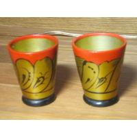 Деревянные стаканчики расписные СССР