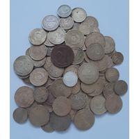 Лот монет ранних Советов(109 штук). Есть интересные! С 1 рубля!