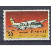 [897] Бразилия 1969. Авиация.Самолет.