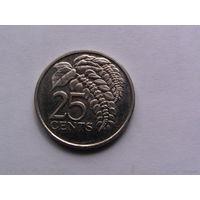 Тринидад и Тобаго 25центов 2007г.  распродажа