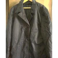 Пальто-плащ  утеплённое для больших людей-чёрное- Р-р 182-104-92