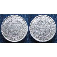 W: Марокко 10 франков 1946, Французский протекторат, Мохаммед V как султан (920)