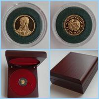 М.Огинский, 10 рублей 2011 золото, в футляре  деревянном