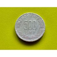Румыния. 500 лей 2000 (монетное отношение аверс/реверс - 180 градусов).