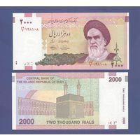 Банкнота Иран 2 000 риалов не датирована (2005) UNC ПРЕСС