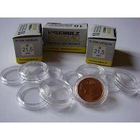 Капсулы Schulz для монет диаметром 21,5 мм.