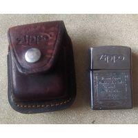 Зажигалка Zippo с чехлом на ремень.