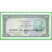 Мозамбик, 100 эскудо 1961 года, Р117 UNC