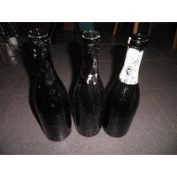 Бутылки из под шампанского (глубокое донце)3 шт.Первая Мировая Война.