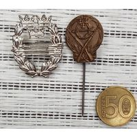 Лот 2 шт Медаль Знак Швеция Военный Спорт стрельба