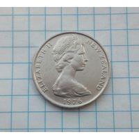 Новая Зеландия 10 центов 1976г. Маска.