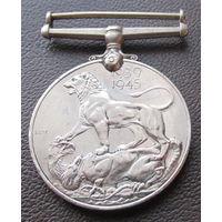 Англия. За службу в Африке во время 2 мировой. 1939-1945. Медаль.
