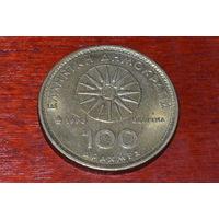 Греция 100 драхм 1990