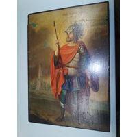 Икона Иван воин .19 век.
