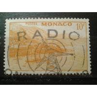 Монако 1949 вид на Монте-Карло, спецгашение Радио