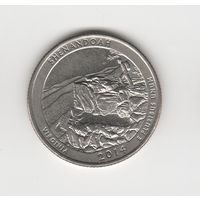 "25 центов (квотер) США ""Нацпарк Шенандоа"" 2014 D Лот 4221"