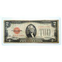 США 2 $ красная печать 1928 D