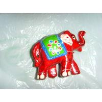 Слон расписной . Дерево или папье-маше
