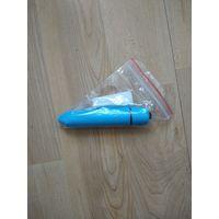 Вибратор пуля, голубой, минск. новый