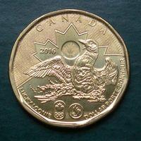 Канада 1 доллар 2016 Доллар удачи Олимпийский (UNC)