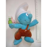 Смурф смурфик Шлюмпф пумукль с бабочкой киндер Ферреро из больших яиц Мягкая игрушка
