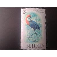 Сент-Люсия 1976 птица