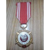 Медаль 5 лет выслуги вс Польша