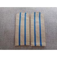 Погоны старшего офицера на рубашку ВВС ВМФ СССР, тканевые, мягкие