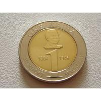 Нигерия.  1 найра  2006 год  KM#18
