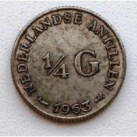 Нидерландские Антильские острова 1/4 гульдена, 1963 1-1-8
