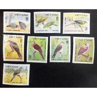 Вьетнам 1980 г. Птицы. Фауна, полная серия из 8 марок #0230-Ф1P53