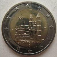 Германия  2 евро 2021 г. Федеральные земли германии Саксония-Ангальт (F)