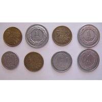 Монеты Польши 5, 20,50 грошей и 3 монеты по 1 злотому 1991, 2009 и 2010 года. Цена за все