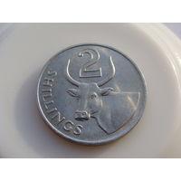 Гамбия. 2 шиллинга 1966 год  КМ#5