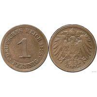 YS: Германия, Рейх, 1 пфенниг 1898F, KM# 10 (1)