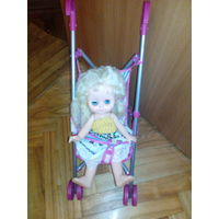Кукла и детская коляска.Ретро!