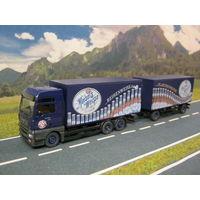 Модель грузового автомобиля MAN (15). Масштаб НО-1:87.