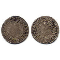 Грош 1540, Жигимонт Старый, Гданьск. Остатки штемпельного блеска, старая патина