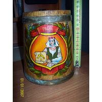 Кружка деревянная пивная Пинск.