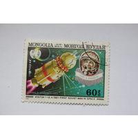 """Марка """" Космос """" Монголия, 1982 г"""