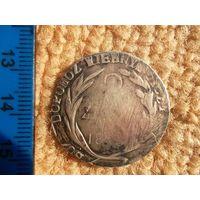 Очень редкая и совершенно подлинная монета осады Замостья 2 злотых 1813 года