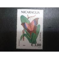 Никарагуа 1991 бабочка Mi-1,9 евро