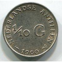 НИДЕРЛАНДСКИЕ АНТИЛЫ - 1/10 ГУЛЬДЕНА 1960
