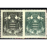 Монако 1943 Герб Металлография Стандарт след